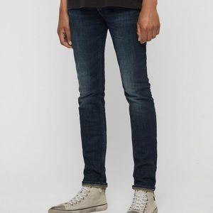 AllSaints Cigarette Skinny Jeans Medium Dark Wash